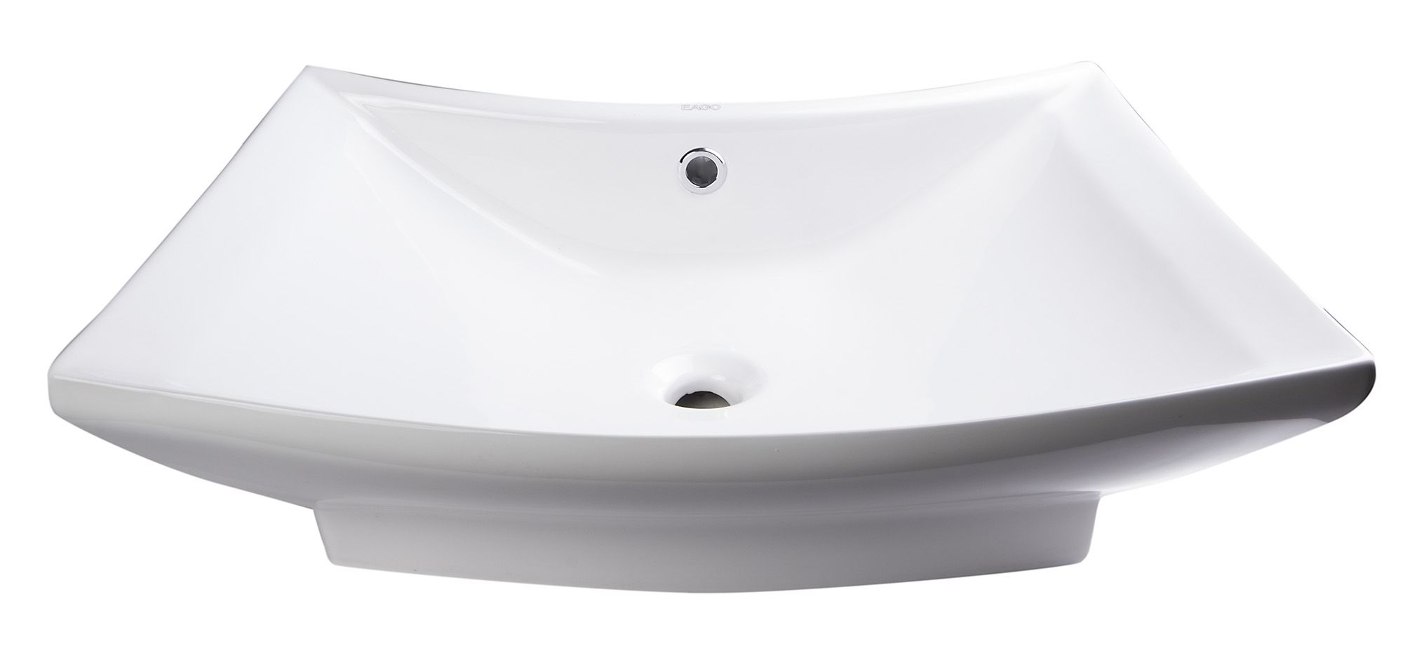 "EAGO BA142 28"" Rectangular Porcelain Bathroom Vessel Sink with Single Hole"