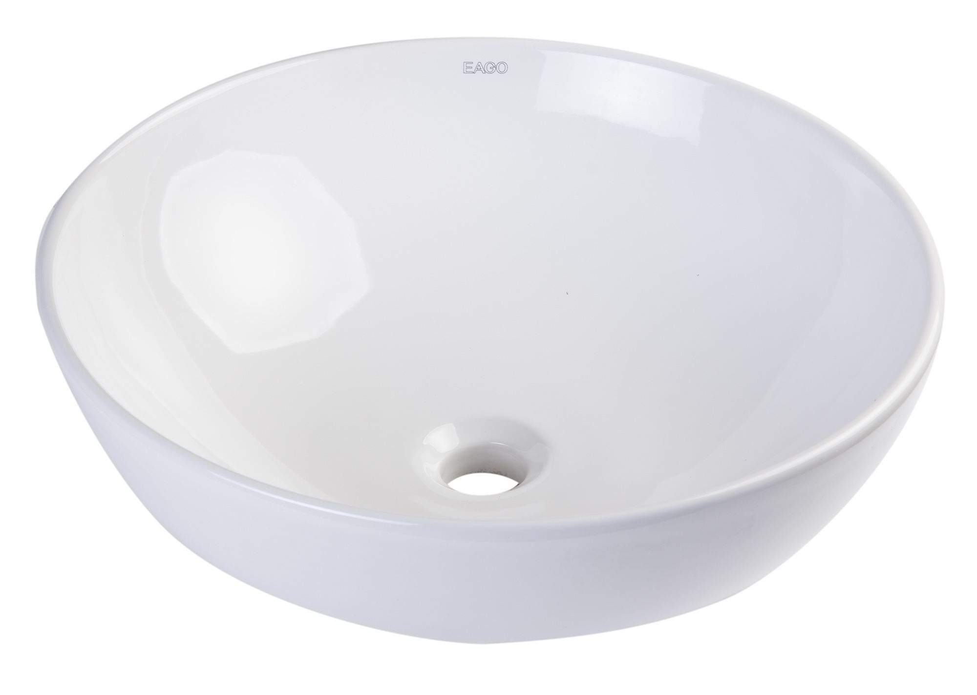 "EAGO BA351 18"" ROUND CERAMIC ABOVE MOUNT BATHROOM BASIN VESSEL SINK"