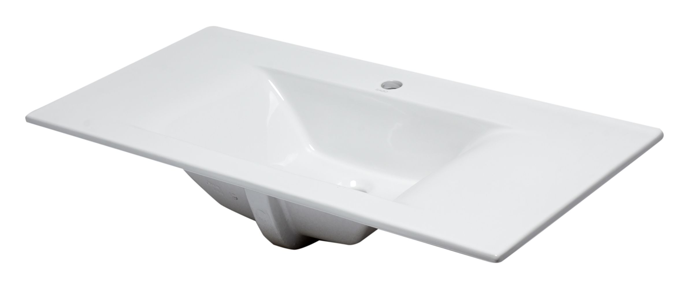"EAGO BB128 White Ceramic 40""x19"" Rectangular Drop In Sink"