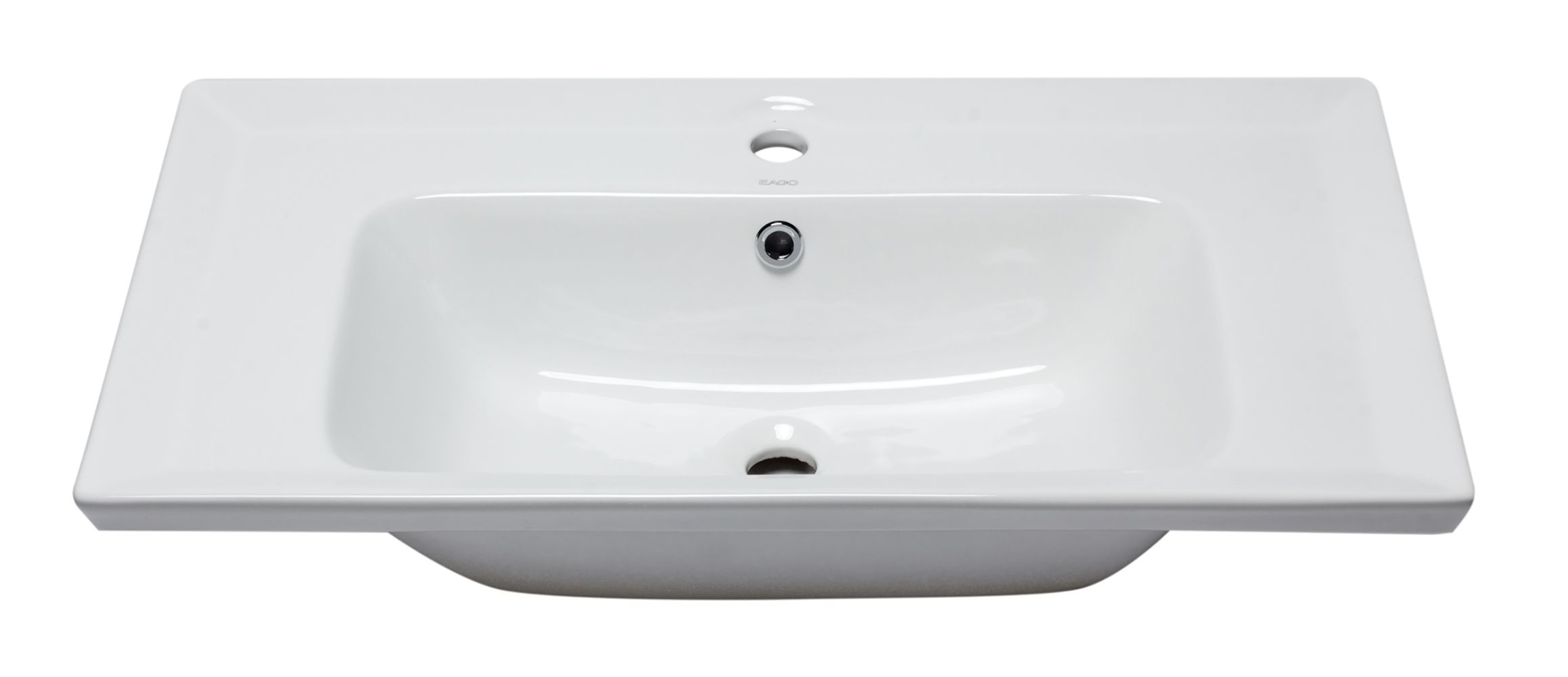 "EAGO BH003 White Ceramic 32""x19"" Rectangular Drop In Sink"