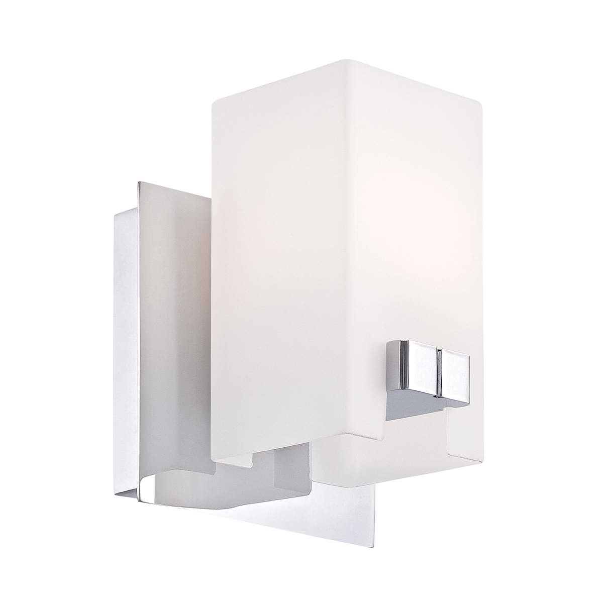 Gemelo Vanity - 1 Light White Opal / Chrome Finish