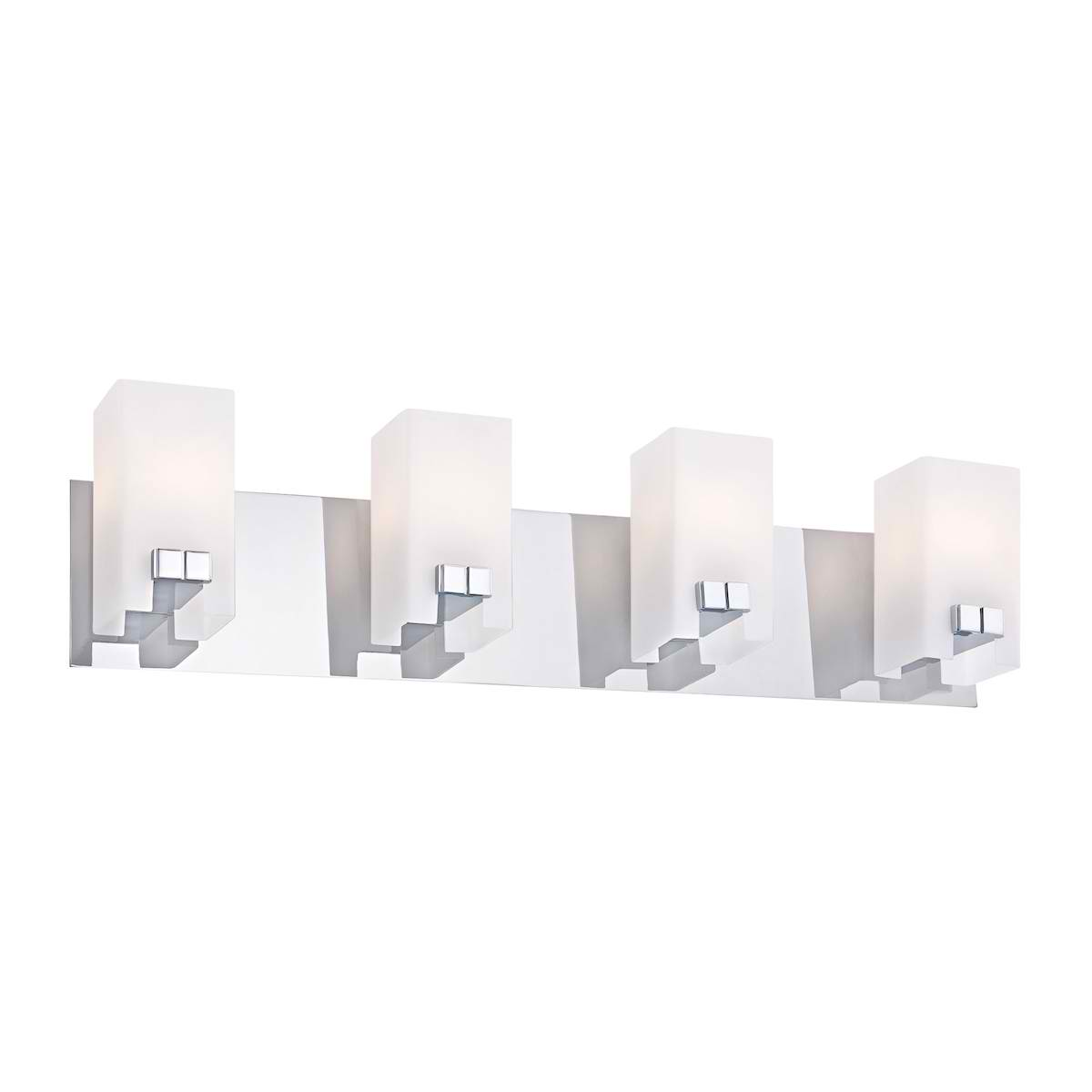 Gemelo Vanity - 4 Light White Opal / Chrome Finish