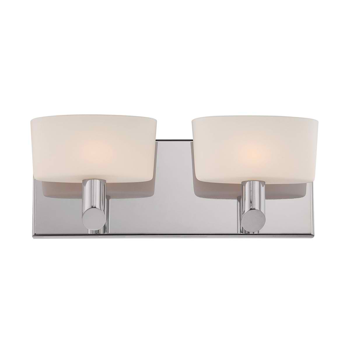 Toby 2L Wall Lamp W11 with Satin Nickel w/ Wh Opal Gl. 2Xg9 40W P/Nickle