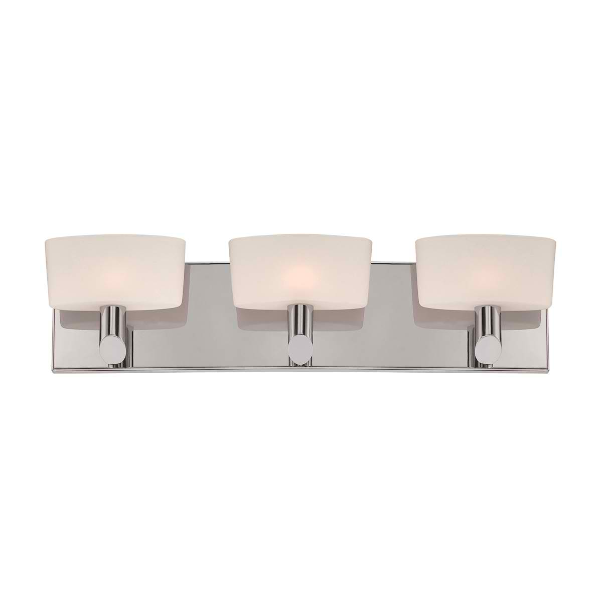 Toby 3L Wall Lamp W18 with Satin Nickel with White Opal Gl. 3Xg9 40W P/Nickle