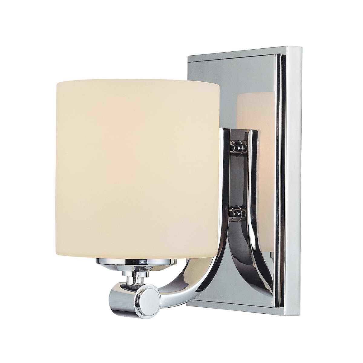 Slide Single Lamp with Cylinder White Opal Glass / Chrome finish