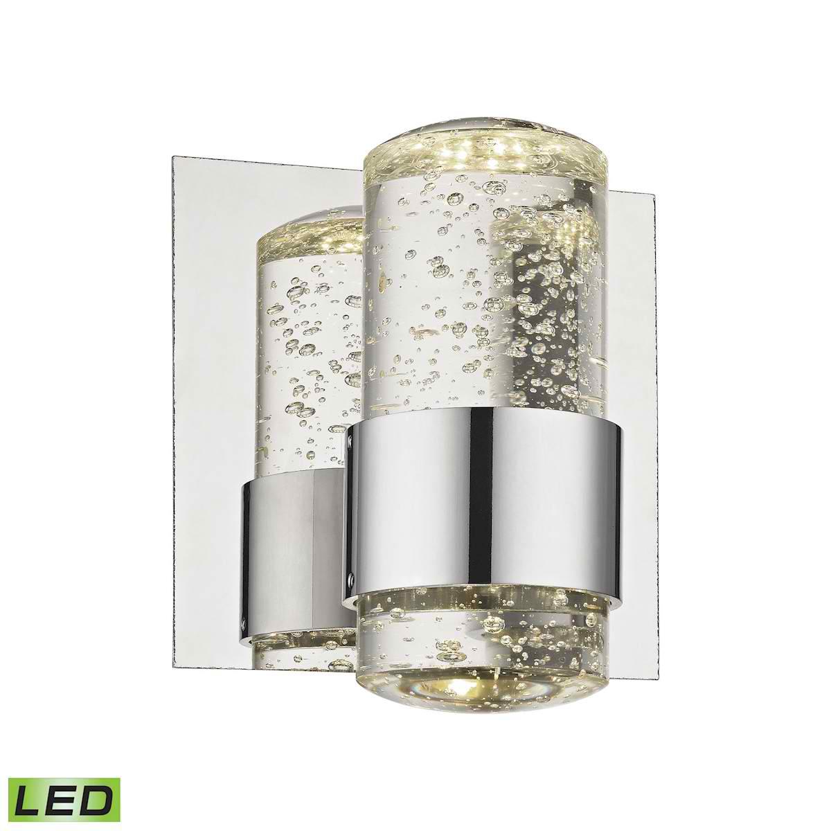 Surrey Bath Vanity - LED 1 Light Bubbled Glass with Chrome Finish