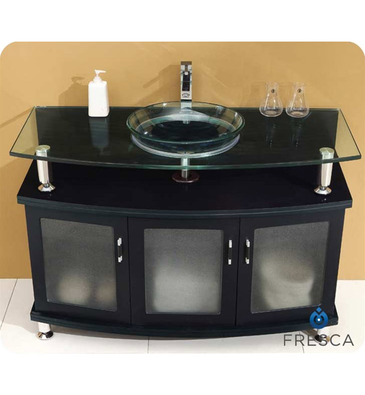 "Fresca Contento Collection 48"" Modern Bathroom Vanity with Faucet and Linen Cabinet Option"