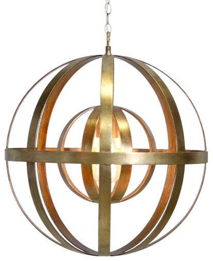 Iron Sphere Chandelier with 3 Finish Options
