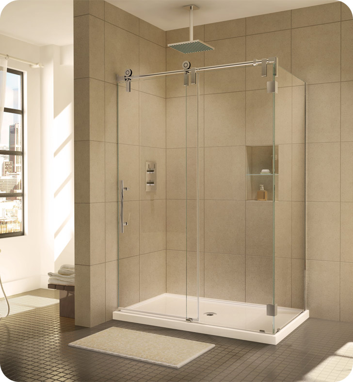 Fleurco Kinetik In Line Door and Fixed Panel with Return Panel (Two Sided)