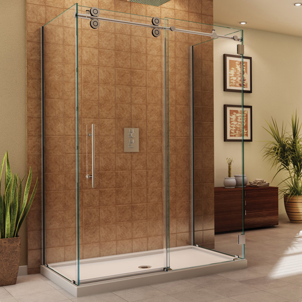 Fleurco Kinetik in Line Door and Panel with Return Panel (Three Sided)