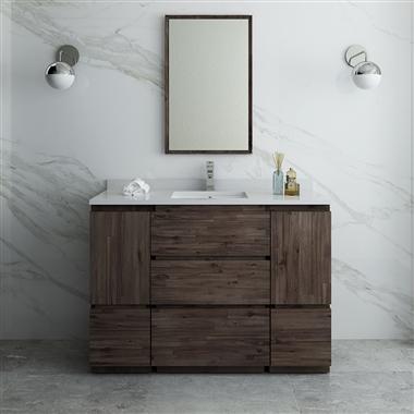 "48"" Floor Standing Modern Bathroom Vanity with Mirror"