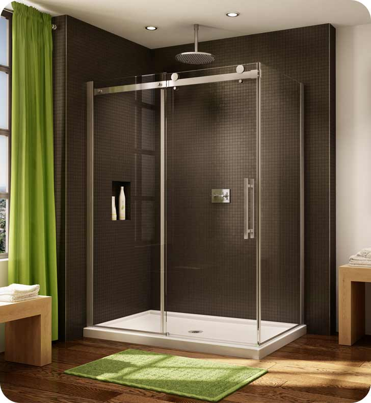 Fleurco Novara Two Sided In Line 60 Door and Fixed Panel with Return Panel