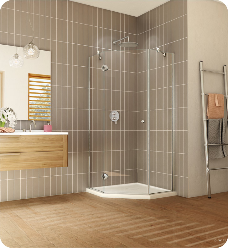 "Fleurco Platinum Neo Angle 38"" Single Shower Door"