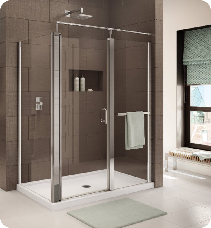 Fleurco Banyo Sevilla In Line 4848 Semi Frameless In Line Pivot Door with Return Panel