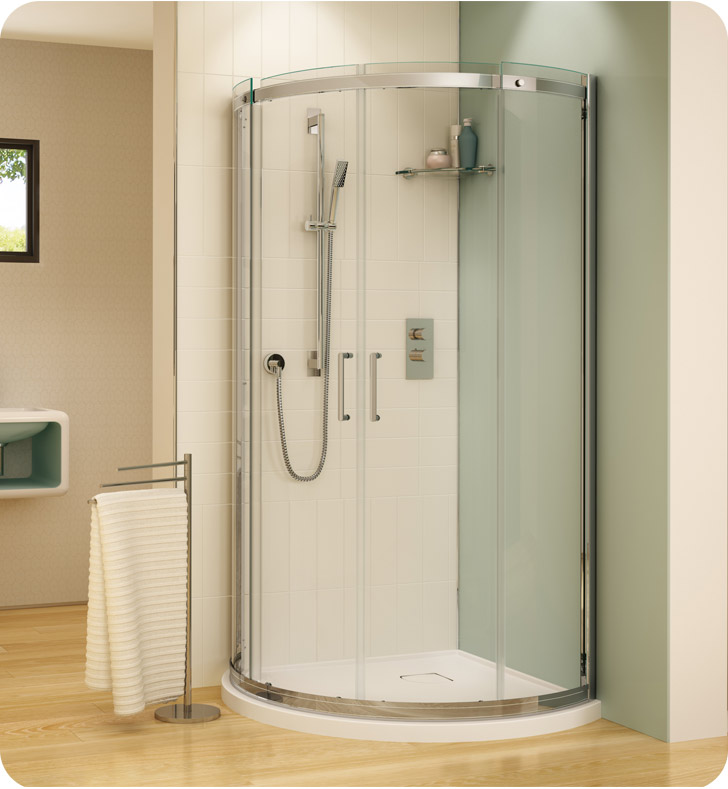 Fleurco Banyo Shuttle Arc 36 Semi Frameless Curved Sliding Doors
