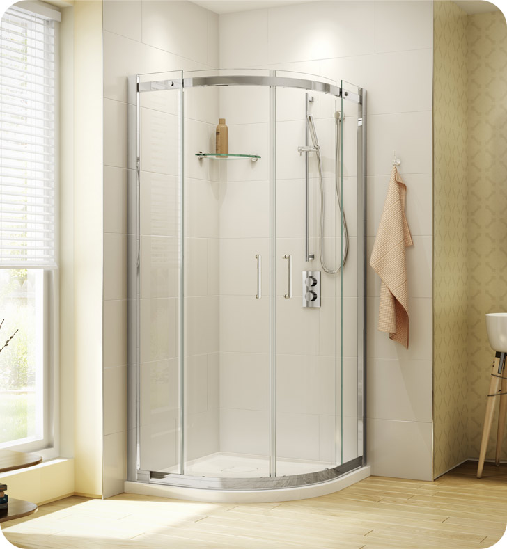 Fleurco Banyo Shuttle Round 36 Semi Frameless Curved Sliding Doors