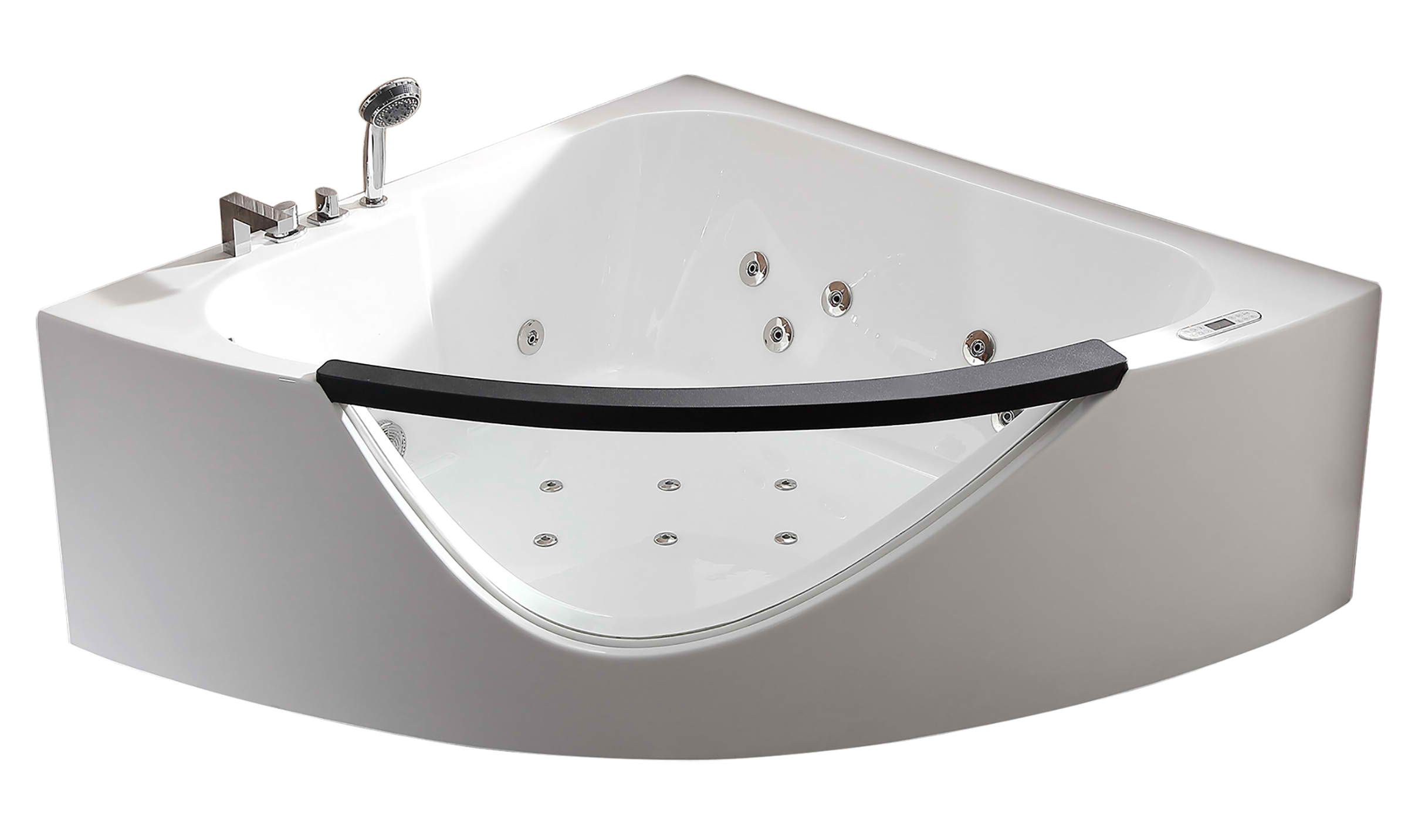 EAGO AM199ETL 5ft Clear Rounded Corner Acrylic Whirlpool Bathtub for Two