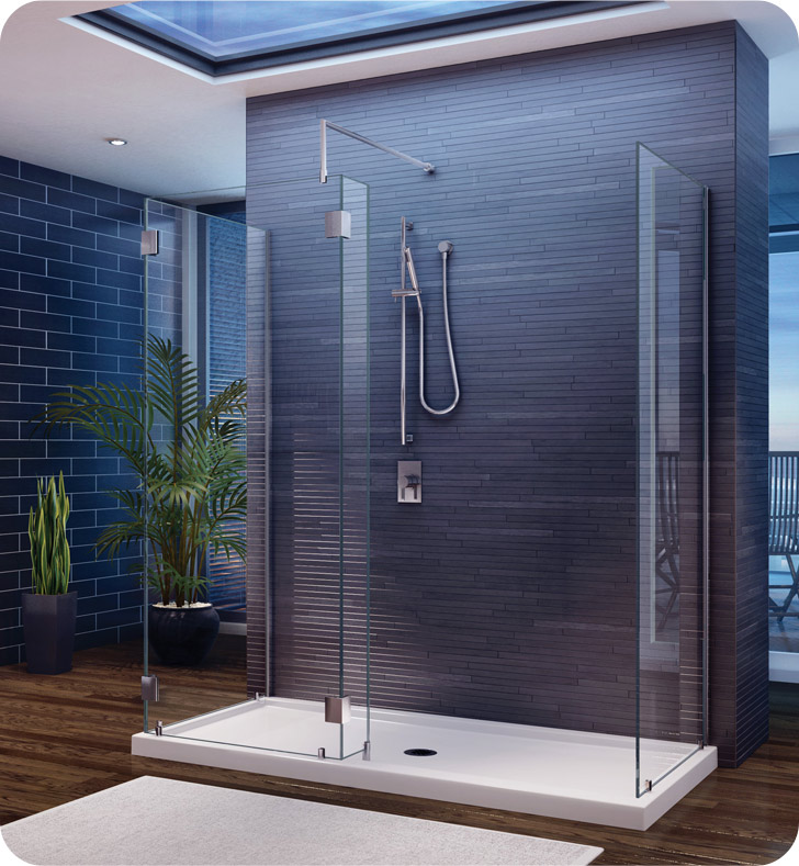 Fleurco Evolution 5' Walk in 3-Sided Shower Enclosure