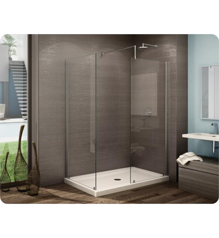 "Fleurco Evolution Petra 33 7/8"" Frameless Walk-In Shower Enclosure with Return Panel"