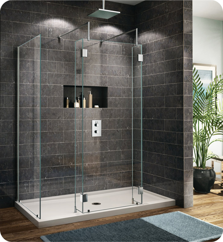 Fleurco Evolution 6' Walk in Shower Enclosure with 2 Side Glass Panels