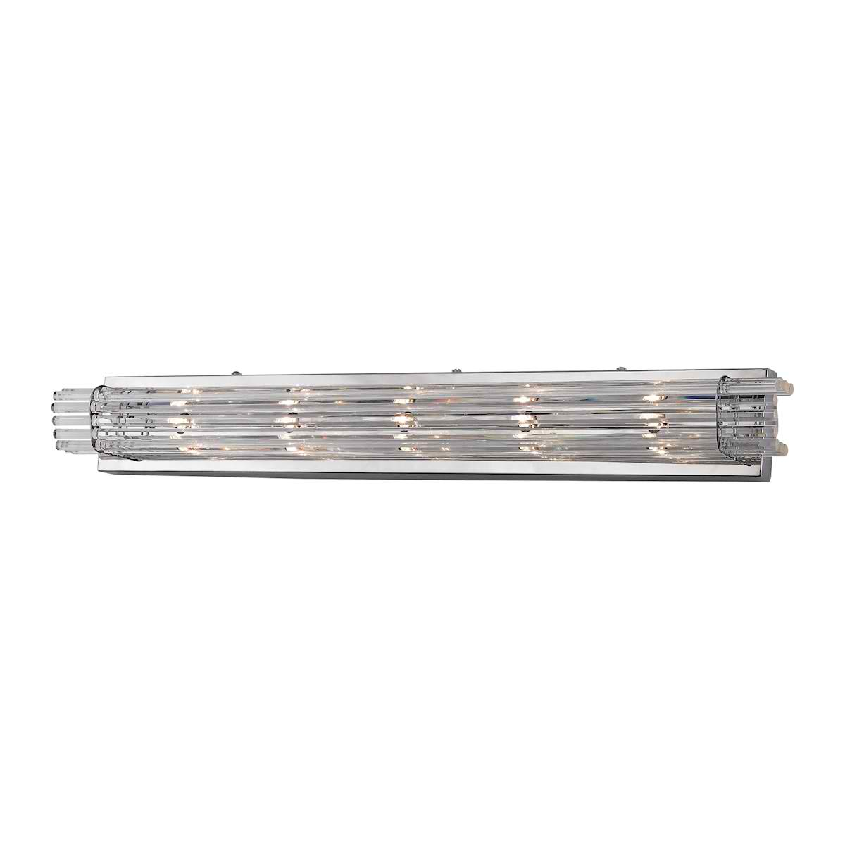 Quebec - 5 Light Crystal Bath Bar Chrome Finish