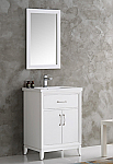 "24"" White Traditional Bathroom Vanity in Faucet Option"