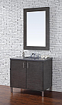36 inch Silver Oak Finish Single Sink Bathroom Vanity Optional Countertop