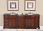 Accord Antique 90 inch Double Sink Bathroom Vanity Baltic Brown Top