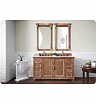 60 inch Double Sink Bathroom Vanity Driftwood Finish Optional Countertop