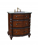 Adelina 31 inch Antique Bathroom Vanity Brown Finish
