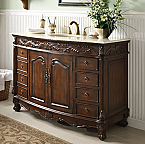 48 inch Adelina Antique Bathroom Vanity Fully Assembled