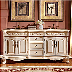 72 inch Antique White Double Sink Bathroom Vanity