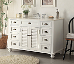 48.75 inch Adelina single Sink Antique White Bathroom Vanity