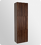 Walnut Bathroom Linen Cabinet 3 Large Storage Areas