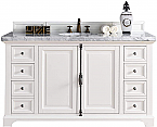 "James Martin Providence Collection 60"" Single Vanity Cabinet, Cottage White"