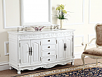 Adelina 63 inch White Antique Double Bathroom Vanity