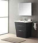 Acqua Milano 31 inch Modern Bathroom Vanity Chestnut Finish