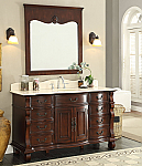 Adelina 60 inch Antique Style Bathroom with 3 Top Options