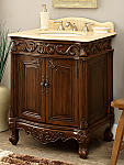 27 inch Adelina Antique Bathroom Vanity Wood Finish