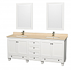"Accmilan 80"" White Double Bathroom Vanity Set"