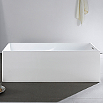 "Abana 70"" x 33"" White Rectangle Soaking Free-Standing Bathtub"
