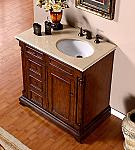Accord 36 inch Antique Single Sink Bathroom Vanity