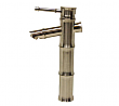 Brushed Nickel Bamboo Vessel Sink Faucet