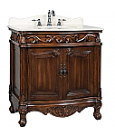"Adelina 32"" Antique Bathroom Vanity Brown Finish"