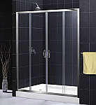 "DreamLine 56""-60"" Visions Shower Door Anodized aluminum profiles"