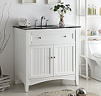 37 inch Adelina Antique White Sink Bathroom Vanity