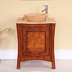 Accord Contemporary 26 inch Single Vessel Sink Bathroom Vanities