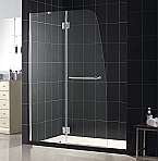 "DreamLine 45"" x 72"" Aqua Lux Shower Door Clear Glass Chrome Finish"