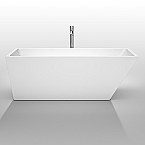 Hannah 67 inch White Soaking Bathtub Acrylic Construction