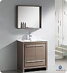 """Fresca Allier 30"""" Modern Bathroom Vanity Grey Oak Finish"""